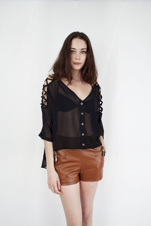 Image of Oversized Black Top