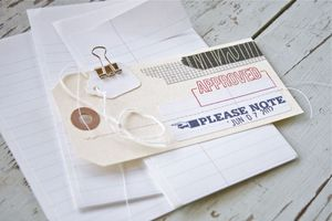 Image of Notebook Paper Labels