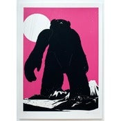 Image of 'Yeti Over Mount Fuji (Magenta)' LAST FEW REMAINING