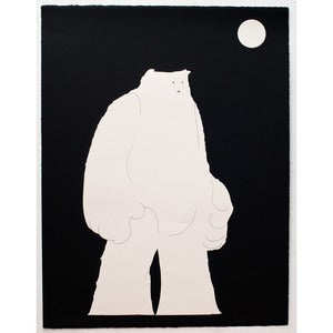 Image of 'Minimalist Yeti [negative version]' SOLD OUT