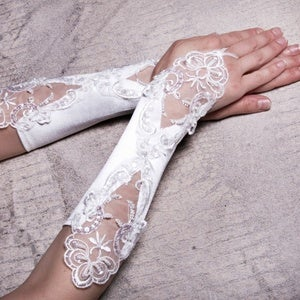 Image of Pair of Lace One-Finger Gloves (Multi Options)