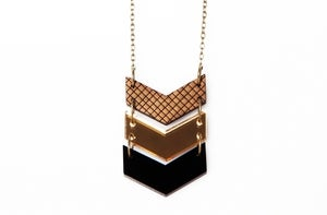Image of Triple chevron necklace - Black