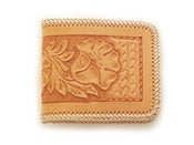 Image of floral tooled billfold