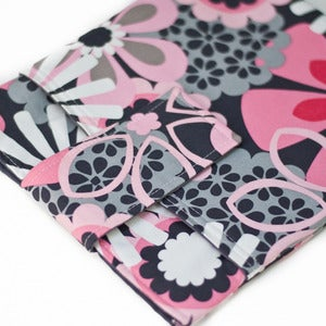 Image of iPad/Tablet/E-Reader Sleeve: Pink Gray Flower Shower