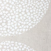 Image of Perfect Circles in Lily White on Natural Hemp