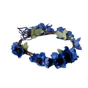 Image of Anemone Floral Crown - Indigo