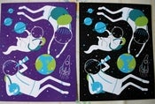 Image of A Day Out in Space - Set of 2 Postcards