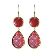 Image of Kimberly Earrings-Red