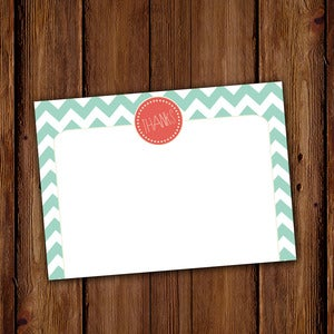 Image of Chevron Stripe Stationery Set