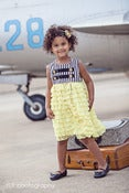 Image of Vole Haut Air force Ruffled dress