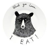 Image of 'What you leave I Eat' Side Plate