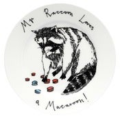 Image of 'Mr Raccoon Loves A Macaroon' Side Plate