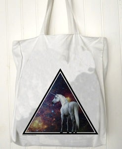 Image of Sac totebag Unicorn across the universe 