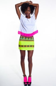 Image of Inca Mini Skirt (Lemon)