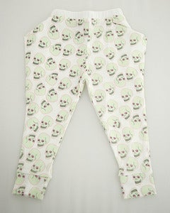 Image of Love Skull Harem Pant White