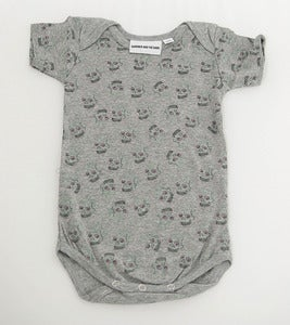 Image of Love Skull Romper Grey