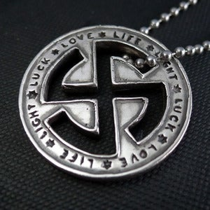 Image of Dark+Dawn x Kube. Sterling Silver Good Luck Pendant <br /> <br />