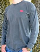 Image of Comfort Colors Pepper Grey Classic Pig Long Sleeve Tee