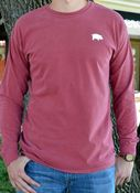 Image of Comfort Colors Red Classic Pig Long Sleeve Tee