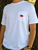 Image of Comfort Colors White Classic Pig Pocket Tee