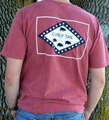 Image of Comfort Colors Red Flag Pocket Tee