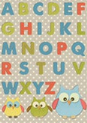 Image of Owl Childrens Alphabet Chart Print