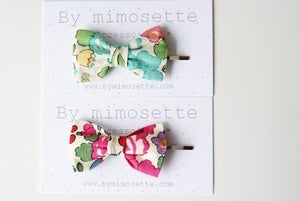 Image of  Barrette Noeud en Liberty of London Betsy DISPO EN CLIP