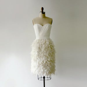 Image of Ruffle My Feathers Dress- White