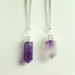 Image of Amethyst Crystal Point necklace