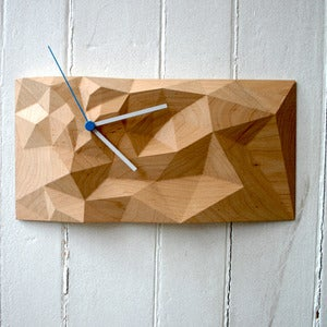 "Image of Maple 12"" x 6"" Block Clock"