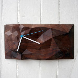 "Image of Walnut 12"" x 6"" Block Clock"