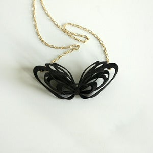 Image of Ribbon Necklace Black