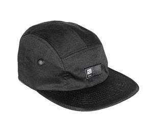 Image of Matrix Logo Camp Hat In Black By PUREFILTH