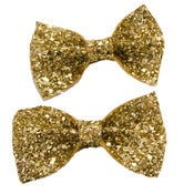 Image of Small Glitter Bows - Pair