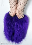 Image of Glitter fluffies purple