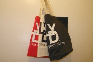 Image of Red/ White LYD Live Your Dreams Canvas Tote