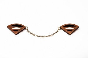 Image of Geo collar brooches - Wood