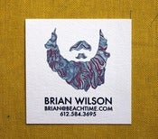 Image of  Beard Calling Cards- 2 inch square-set of 50