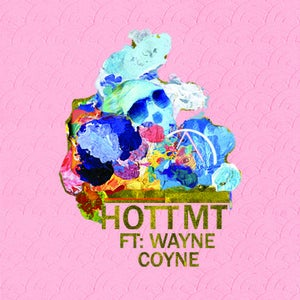 "Image of HOTT MT feat. Wayne Coyne - ""Never Hate Again"" 7"" (Pink Vinyl)"