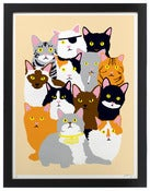 Image of &quot;Cat Collage&quot; print