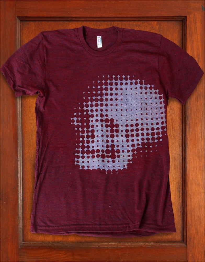 Image of Memento Mori (Near/Far) [Discharge Print—Cranberry]