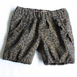 Image of Bloomers i leopardtwill med flselommer str 98