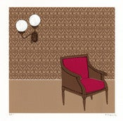Image of At the Melvin House Hotel - Limited Edition Screenprint