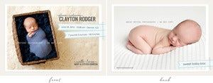 Image of Simply Clean Birth Announcement Template 5