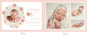 Image of Simply Clean Birth Announcement Template 6