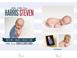 Image of Simply Clean Birth Announcement Template 7