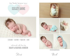 Image of Simply Clean Birth Announcement Template 8