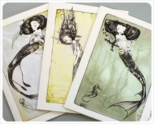 Image of 3 Mermaid Cards by the Filigree