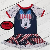 Image of **SOLD OUT** Patriotic Minnie Mouse twirl dress- size 2/3T