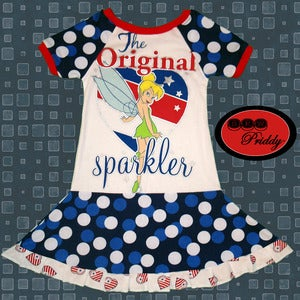 Image of **SOLD OUT** Tinkerbell the Original Sparkler Twirl Dress - size 5/6/7